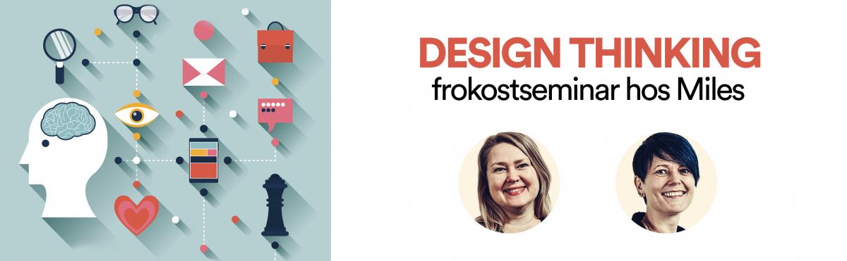 Headerbilde av Anne Lise og Elin til frokostmøte om Design Thinking
