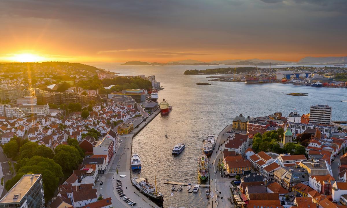 Oversiktsbilde Stavanger sentrum