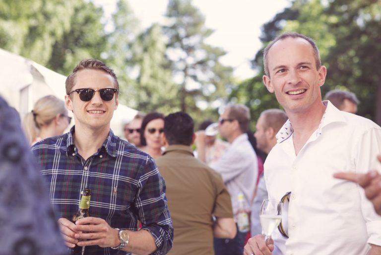 Jørgen Baardsen og Roar Frantsvåg på sommerfest til Miles Oslo